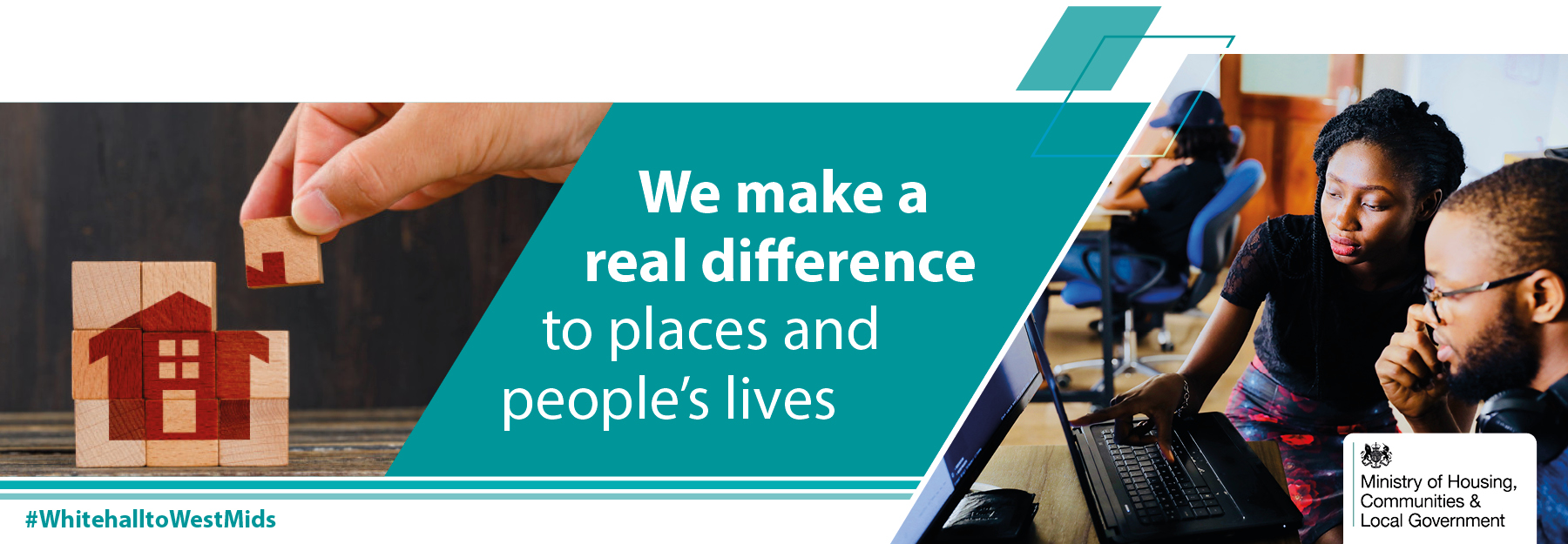 Homepage banner reading we make a real difference to peoples lives